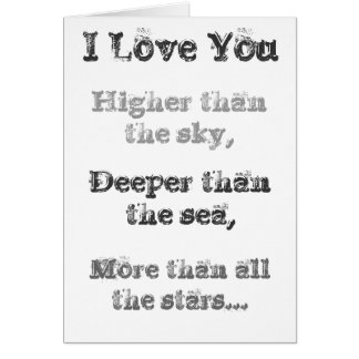 I love you higher than the sky... Greeting Card