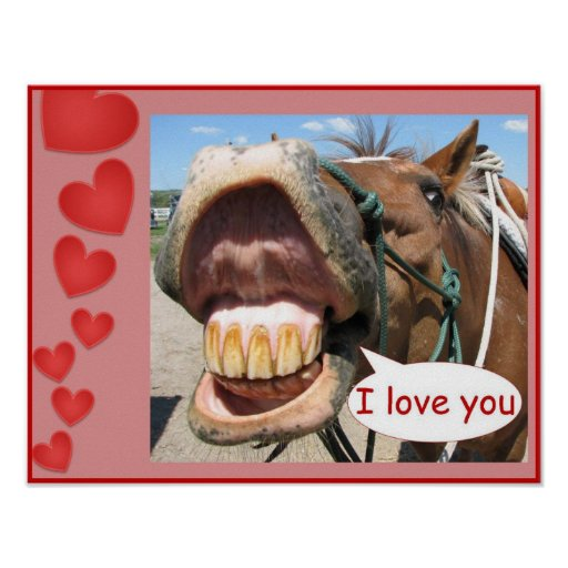 """I Love You"" Horse Print Customizable"
