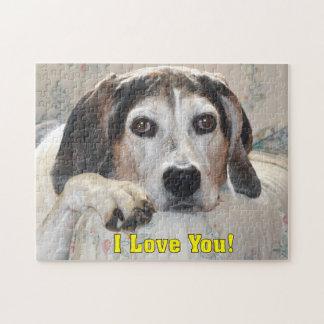 I Love You! Hound Dog Jigsaw Puzzle