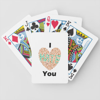 I Love You I Hate You Color Blind Bicycle Playing Cards