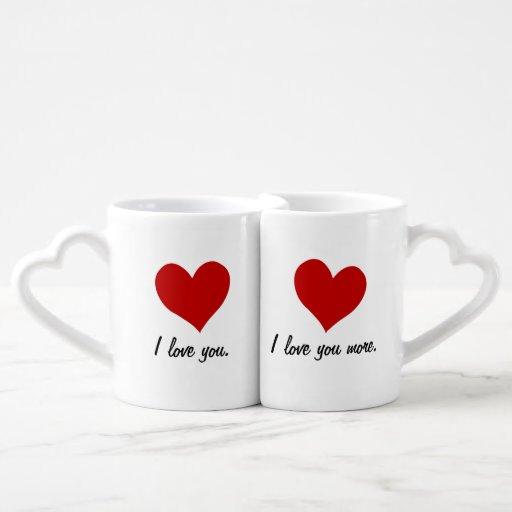 I Love You, I Love You More Lovers Mug Sets