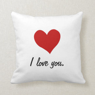 I Love You, I Love You More Throw Pillow