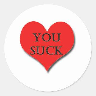 i LOVE YOU - I Really Do! Classic Round Sticker