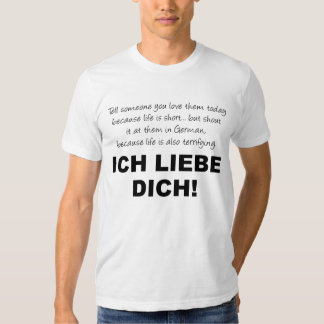 I Love You Ich Liebe Dich Funny T-Shirt