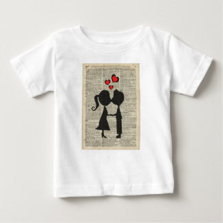 I love you illustration over an dictionary page t shirt