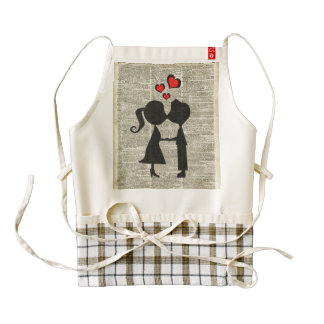 I love you illustration over an dictionary page zazzle HEART apron
