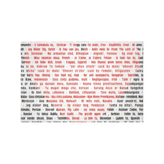 I Love You in 100 Languages Stretched Canvas Print