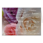 """"""" I love you """" in 23 languages Greeting Cards"""