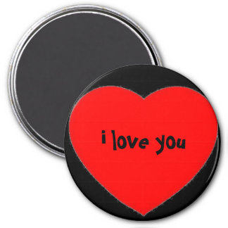 """""""i love you"""" in a heart magnet"""