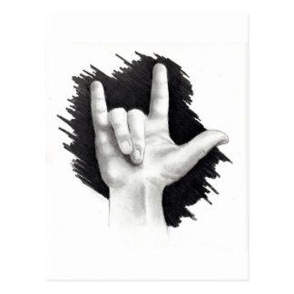 I LOVE YOU IN ASL #2 POSTCARD