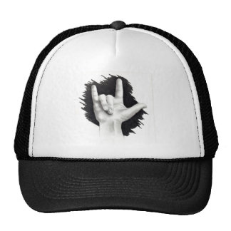 I LOVE YOU IN ASL #2 TRUCKER HAT