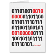I love you in Binary Code Card