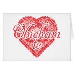I love you in Bulgarian - Obicham te Greeting Card