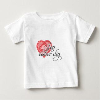 I love you in Danish - Jeg elsker dig Baby T-Shirt