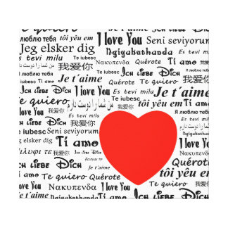 I love you in different languages canvas print