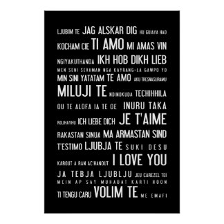 """I love you"" in different languages Poster"