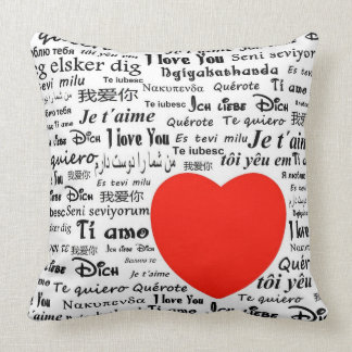 I love you in different languages throw pillow