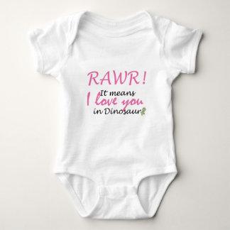I love you in Dinosaur Baby Bodysuit