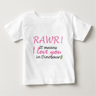 I love you in Dinosaur Baby T-Shirt