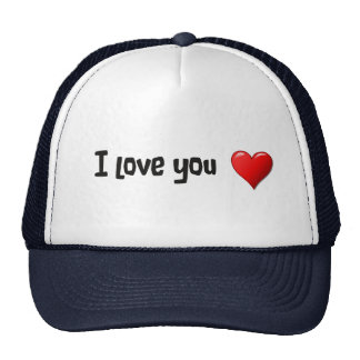 I love you in English Hats
