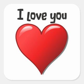 I love you in English Square Sticker