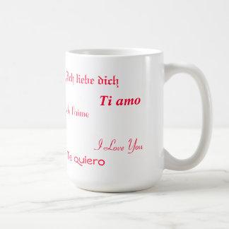 I Love You In Five Languages Classic White Coffee Mug