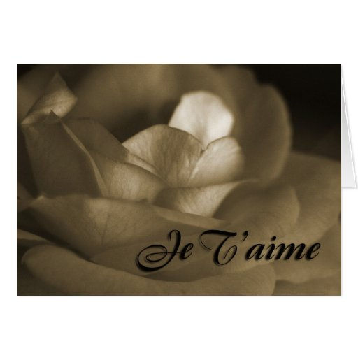 I Adore You In French I love you in French C...