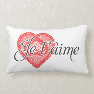 I love you in French - Je t'aime Pillow