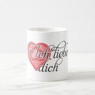 I love you in German Classic White Coffee Mug