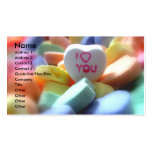 I Love You, in Heart Candy Double-Sided Standard Business Cards (Pack Of 100)