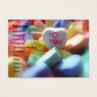 I Love You, in Heart Candy Business Card