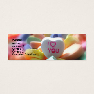 I Love You, in Heart Candy Mini Business Card