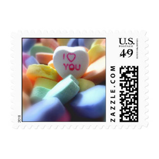 I Love You, in Heart Candy Postage Stamp