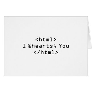 I Love You in HTML Card