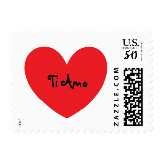 """I Love You"" in Italian Postage Stamps"