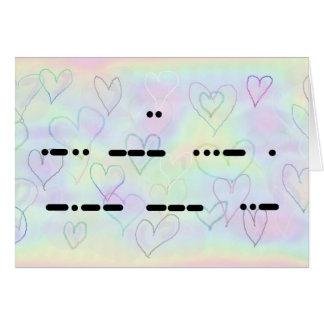 I Love You in Morse Code Valentine's Card