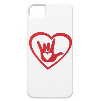 I love you in Sign Language (w/ all my heart) iPhone SE/5/5s Case