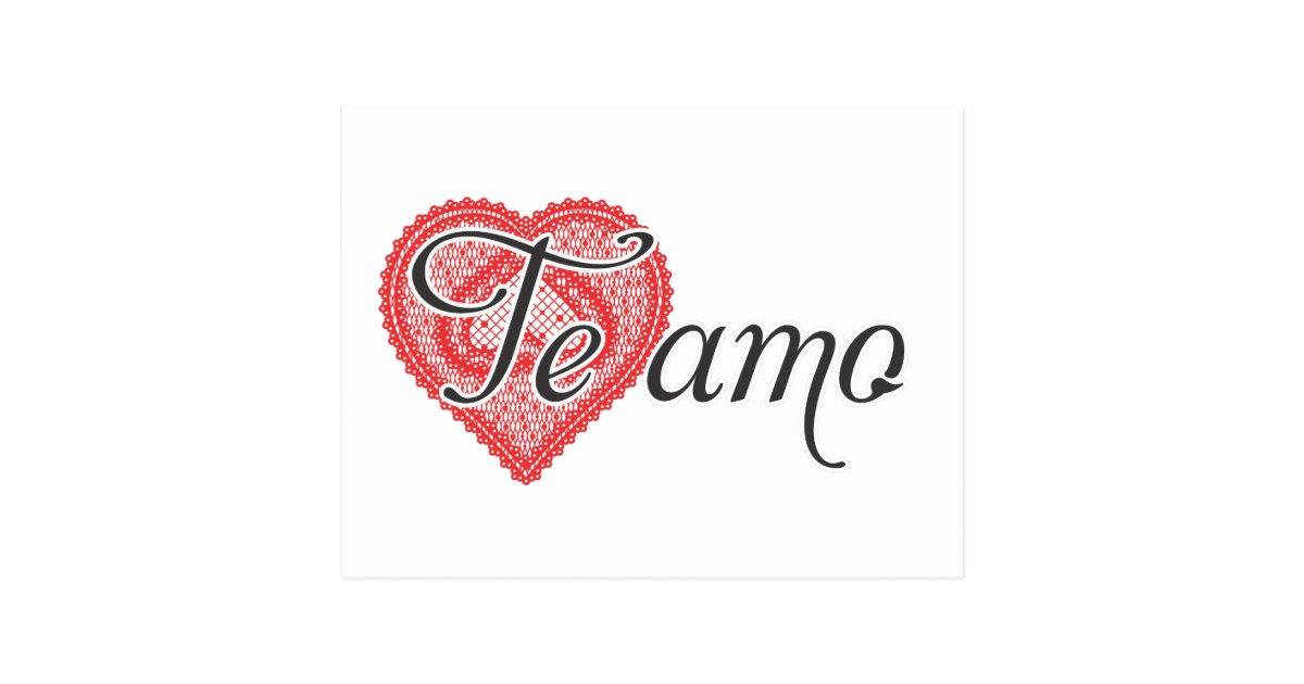 I Love You In Spanish - Te Amo Postcard  Zazzlecom-5663
