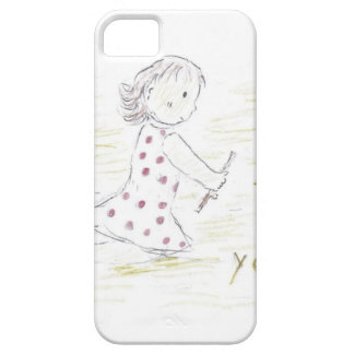 I Love You in the sand iPhone SE/5/5s Case