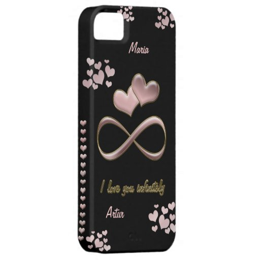 I love you infinitely Valentine's Day  pink black iPhone 5 Cases