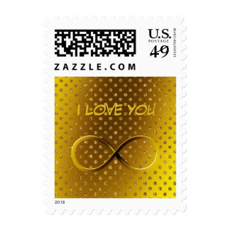 I Love You Infinity | Gold Postage