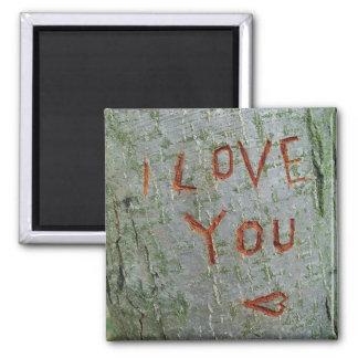 I love you inscription magnet