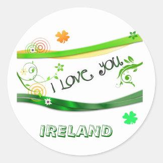 I Love You Ireland Classic Round Sticker