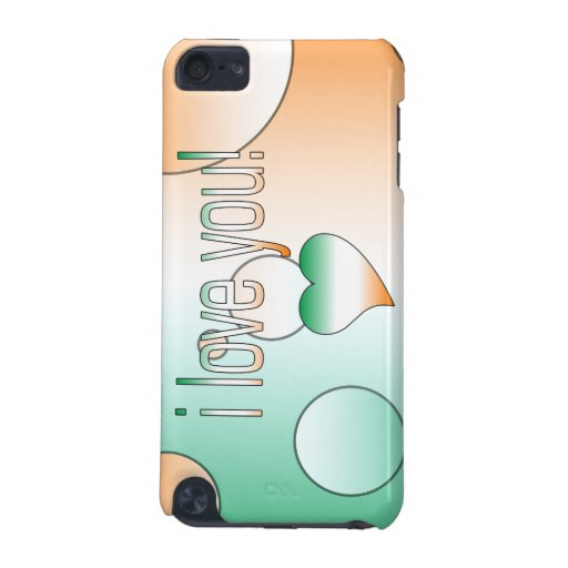 I Love You! Ireland Flag Colors Pop Art iPod Touch (5th Generation) Cases