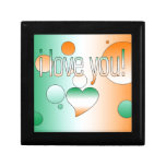 I Love You! Ireland Flag Colors Pop Art Jewelry Box