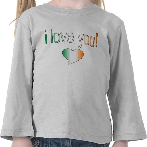 I Love You! Ireland Flag Colors T-shirt