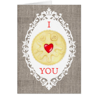 I Love You Jammy Dodger Biscuit Greetings Card