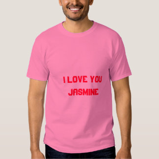 I Love You Jasmine Tshirt 2 by Jasmine Girls Cats