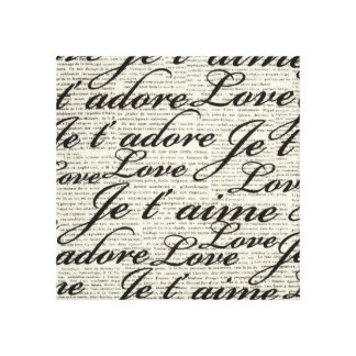 I Love You, Je t' aime, Wrapped Canvas
