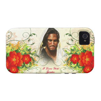 I Love You Jesus / Abstract Art 42A Case-Mate Case Vibe iPhone 4 Cover